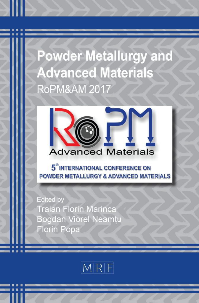 Composite material obtained by powder metallurgy with applications.